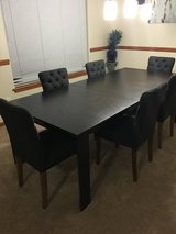 Dining table set in Fort Lewis, Washington