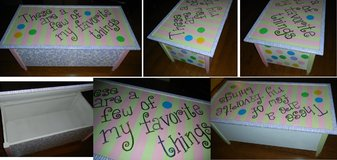 """LARGE Custom Hand Painted """"A Few Of My Favorite Things"""" Wood Toy Box Hope Chest in Kingwood, Texas"""