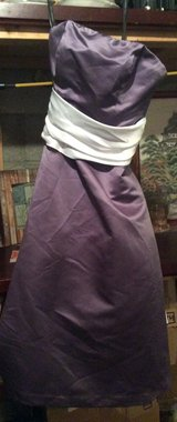 bill levkoff purple white bridal or prom dress in Fort Campbell, Kentucky