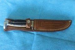 CASE XX MODEL 523-5 STAG HANDLED FIXED BLADE KNIFE in Perry, Georgia