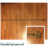 Extendable Leaf Curtain Rod (great condition) in Clarksville, Tennessee