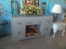 Shabby gray buffet in Camp Lejeune, North Carolina