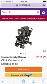 Grayco double stroller black and gray in Spring, Texas