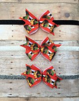 Chicago Blackhawks Baby/Toddler Hair Bow clip or headband! in Glendale Heights, Illinois