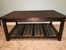 """Ashley Furniture """"Mestler"""" rustic brown rectangular coffee table - new! in Naperville, Illinois"""
