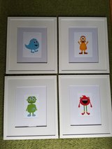 Cute monster pictures for child's room in Glendale Heights, Illinois