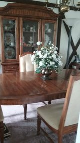 Dining Room Table and 4 Chairs with China Cabinet in Joliet, Illinois