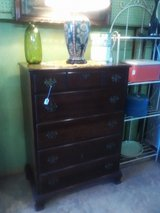 Solid mahogany tall chest in Camp Lejeune, North Carolina