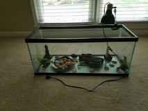 Terrarium with accessories and heating lamp in Fort Benning, Georgia