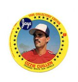 1986 White Sox Ozzie Guillan Collectors Circle Card from Jays Potato Chip in Great Lakes, Illinois