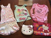 8 hello kitty items: Girls size 6 clothing, bracelet, purses & sunglasses in Perry, Georgia