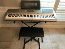 Casio WK-200 Keyboard 76 Key with Stand & Bench in Kingwood, Texas