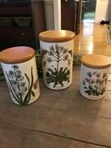 3 Vintage Botanic Garden Canisters by Portmeirion in Bolingbrook, Illinois