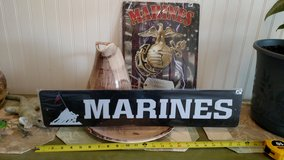 Marine Metal Signs - 2 Designs New in 29 Palms, California