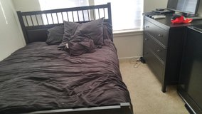 King size bed w/ mattress and dresser in Fort Lewis, Washington