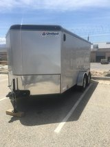 16x7 v-nose enclosed trailer in Yucca Valley, California