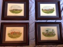 Customed framed Famous British Golf Clubs (courses) in Kingwood, Texas