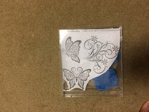 Acrylic butterfly stamps in Okinawa, Japan