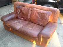 REAL LEATHER LOVE SEAT in Kingwood, Texas