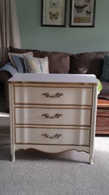 French Provencial 3 drawer dresser in Chicago, Illinois