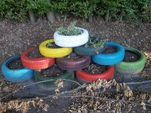 Garden Decoration Tires in Ramstein, Germany