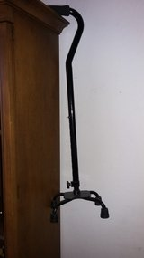 Black Adjustable QUAD Cane in Vacaville, California