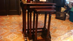 3 in 1 serving table solid dark wood in Fort Bliss, Texas