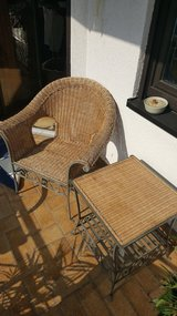 ** wicker chair and matching table ** in Ramstein, Germany