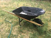 Blue Hawk 4-cu ft Steel Wheelbarrow in Alamogordo, New Mexico