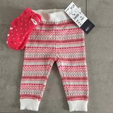 NWT Cozy pants with socks 6M in Ramstein, Germany
