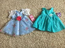 Toddler girl dresses brand new sizes are 12 m and 18 m in Shorewood, Illinois