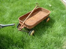 rusted RED WAGON for garden or restore in Chicago, Illinois