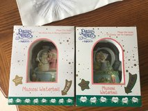 Two precious moments musical snow globes in Aurora, Illinois