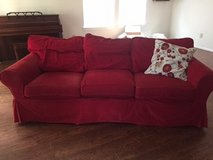 SOFA - Ikea Ektorp 3 cushion red couch in Kingwood, Texas