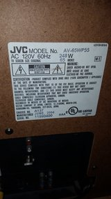 JVC 65 inch rear projection tv in Bolling AFB, DC