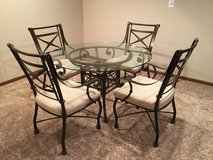 Glass dining table and four arm chairs in bookoo, US