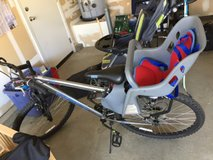 bike with baby seat in Vacaville, California
