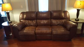 Brown leather couch in Watertown, New York