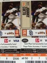 Giants vs Padres 4-28 in Vacaville, California