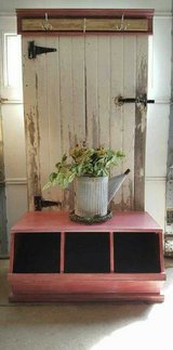 Custom Antique Barn Door Hall Tree/Bench in Chicago, Illinois