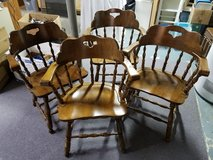 Four solid wood Captain's chairs in Batavia, Illinois