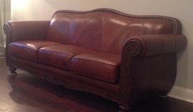 Brown leather sofa in Little Rock, Arkansas