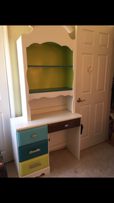 Custom desk with removable hutch / shelving in Lockport, Illinois