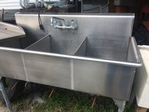 triple stainless steel sink removable counter in Camp Lejeune, North Carolina