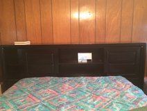 King size headboard with 6 drawer pedestral in Alamogordo, New Mexico