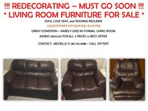 LIVING ROOM FURNITURE in Pearland, Texas