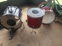 Crush Bass drum and pedal and two pieces from Japanese company vintage in Duncan, Oklahoma