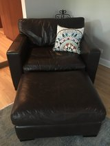 Leather Chair and Ottoman in Glendale Heights, Illinois