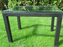 Small contemporary glass/metal table in Glendale Heights, Illinois