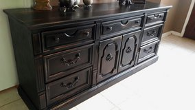 Thomasville Large Rustic Black Dresser in Baytown, Texas